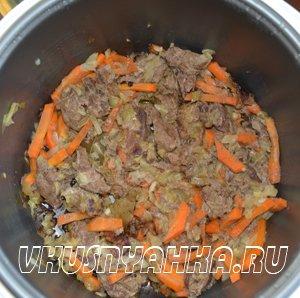 Паштет из свиной печени в мультиварке, приготовление, шаг 3