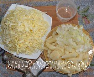 Жареный картофель с капустой в мультиварке, приготовление, шаг 1