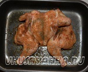 Запеченная курица в духовке (без масла)., приготовление, шаг 4
