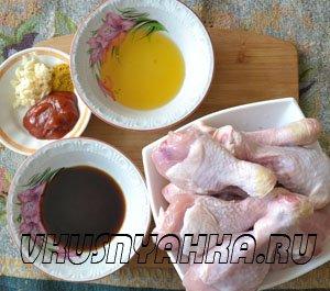 Куриные ножки в соево-медовом соусе  в мультиварке, приготовление, шаг 1