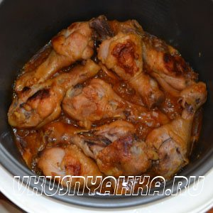 Куриные ножки в соево-медовом соусе  в мультиварке, приготовление, шаг 6