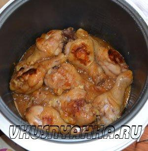 Куриные ножки в соево-медовом соусе  в мультиварке, приготовление, шаг 5