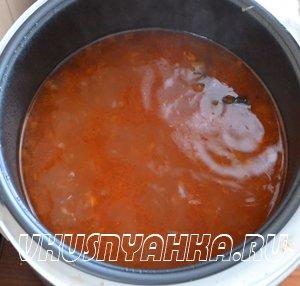 Суп из кильки в томатном соусе  в мультиварке, приготовление, шаг 4
