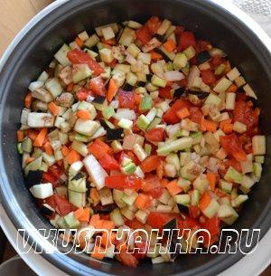Овощное рагу  в мультиварке, приготовление, шаг 2