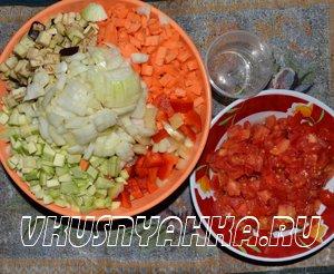 Овощное рагу  в мультиварке, приготовление, шаг 1