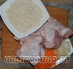 Рис с курицей  в мультиварке, приготовление, шаг 1