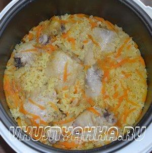 Рис с курицей  в мультиварке, приготовление, шаг 3