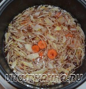 Овощной суп с капустой и шпинатом в мультиварке, приготовление, шаг 2