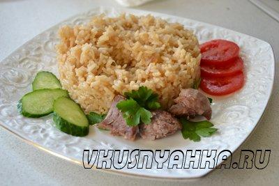Рис с луком в мультиварке, приготовление, шаг 6