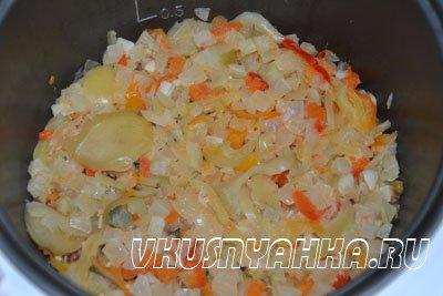 Овощная смесь Рататуй в мультиварке, приготовление, шаг 2