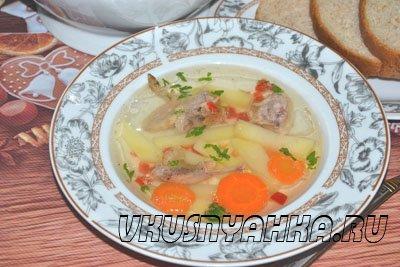 Суп из перепелки в мультиварке, приготовление, шаг 5