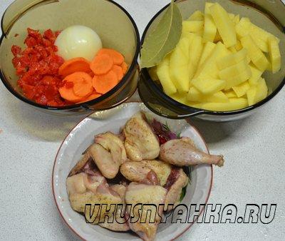 Суп из перепелки в мультиварке, приготовление, шаг 1