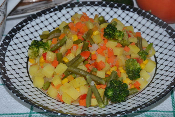 Овощи по деревенски в мультиварке