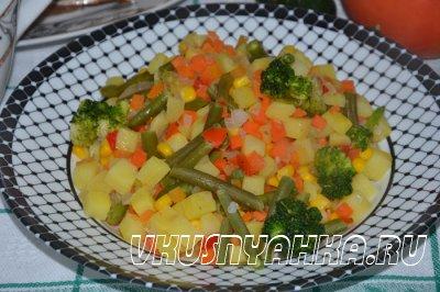 Овощи по деревенски в мультиварке, приготовление, шаг 3
