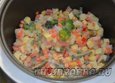 Овощи по деревенски в мультиварке, приготовление, шаг 1