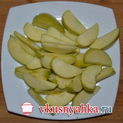 Куриная печень с яблоками  в мультиварке, приготовление, шаг 3