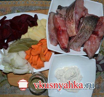 Рыба с овощами в мультиварке, приготовление, шаг 1