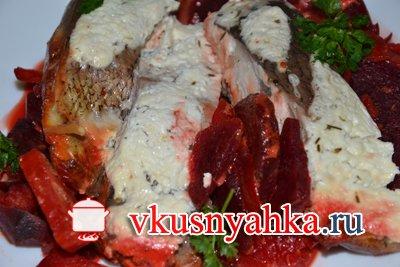 Рыба с овощами в мультиварке, приготовление, шаг 5