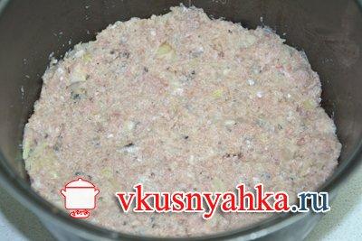 Запеканка из картофеля с рыбным фаршем в мультиварке, приготовление, шаг 5