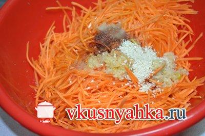 Морковь по-корейски, приготовление, шаг 5