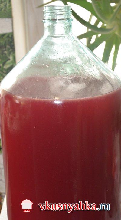 Рецепт домашнего вина из винограда, приготовление, шаг 6