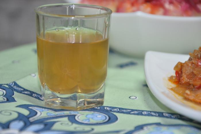 Настойка бородинская на самогоне, водке, спирте