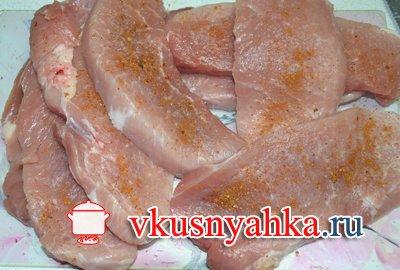 Шницель из свинины в духовке, приготовление, шаг 1
