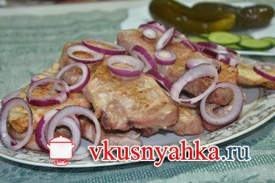 Шницель из свинины в духовке, приготовление, шаг 4