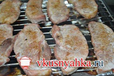 Шницель из свинины в духовке, приготовление, шаг 3