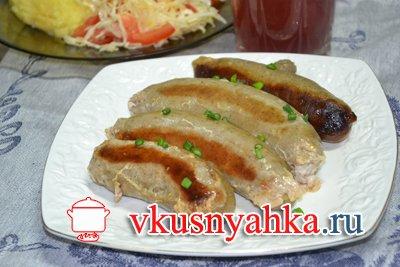 Куриные колбаски в мультиварке, приготовление, шаг 3