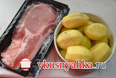 Картошка в стейке нежном., приготовление, шаг 1