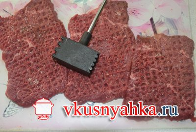 Ромштекс из говядины в мультиварке, приготовление, шаг 1