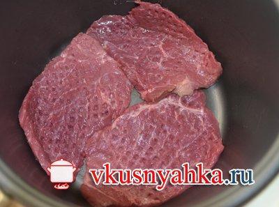Ромштекс из говядины в мультиварке, приготовление, шаг 2