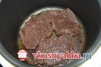 Ромштекс из говядины в мультиварке, приготовление, шаг 3