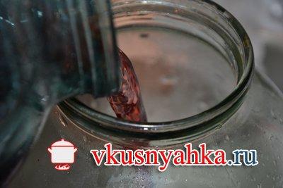Домашний винный уксус из виноградного вина, приготовление, шаг 2